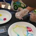 gâteau soucoupe volante <b>sans</b> lait et <b>sans</b> <b>gluten</b> pour un goûter de chimistes...