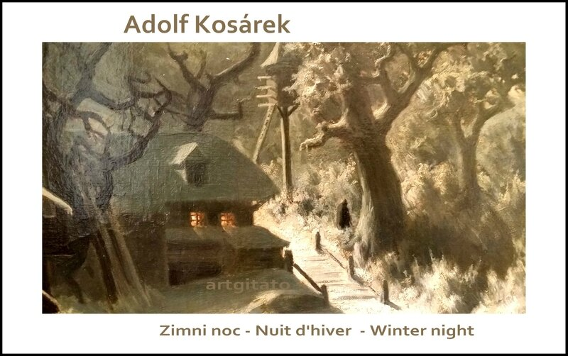 Adolf Kosárek Zimni noc Nuit d'hiver Winter night 1857 Artgitato 7