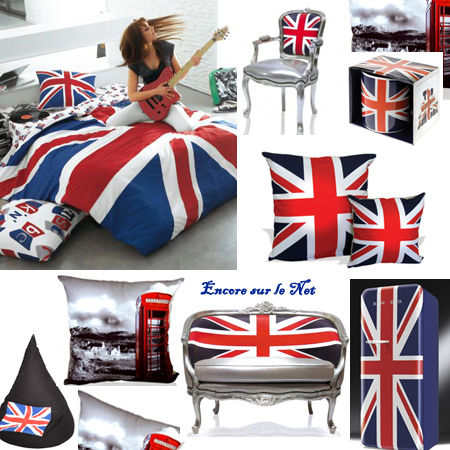 La deco version union jack for Decoration angleterre pour chambre