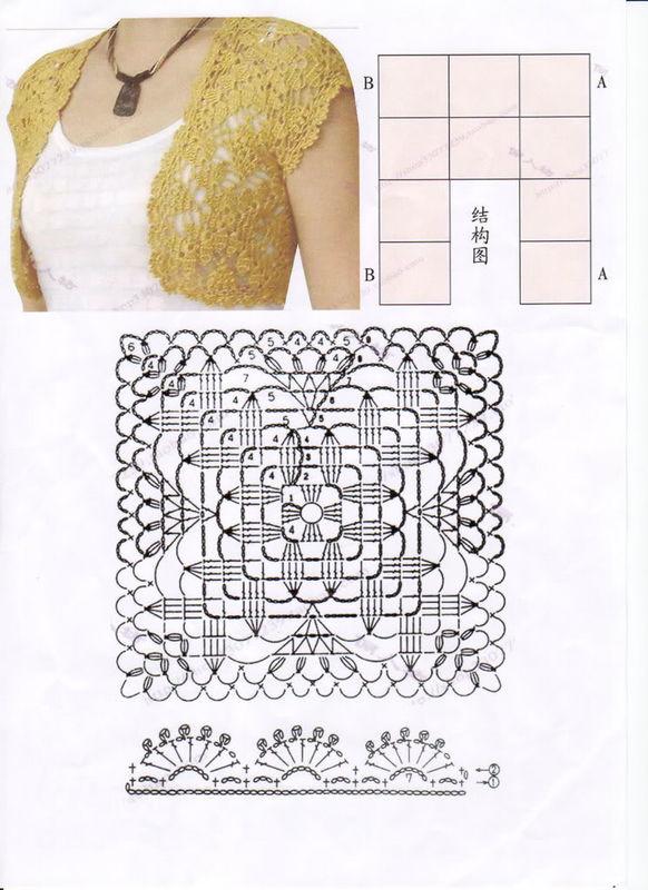Patron crochet bolero - Imagui