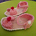 Sandales Baby au crochet Taille 0 - 3 mois