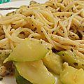 Spaghettis Courgette Pesto
