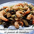 NOUILLES CHINOISES AUX CREVETTES ET POUSSE DE <b>BAMBOU</b>