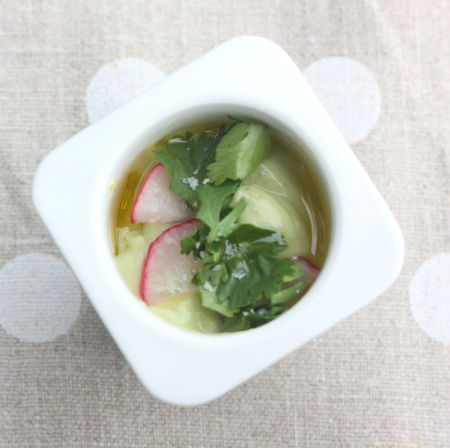 61930205 p Verrine de soupe froide avocat pomme verte  la citronnelle comme un grand chef mais en 5 mn