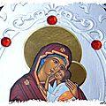 cARTe religieuse : l'<b>icône</b> Notre Dame de Jaroslav