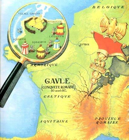 Asterix plan de la Gaule