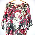  <b>Blouse</b> Top VERO MODA fluide brillante style ART NOUVEAU Rtro