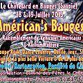 AMERICAN'S BAUGES Rassemblement de véhicules Américains (Camions, Voitures, Motos Kustom kulture <b>Nouvelles</b> dates 18 / 19 juillet