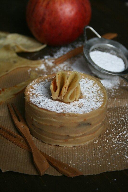 Mini gâteau de crêpes pommes-marrons Passion culinaire Minouchka 2