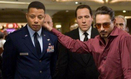 Jon Favreau (l'acteur), Robert Downey Jr. et Terrence Howard