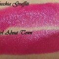 Battle : Fuschia Graffiti de Bourjois VS Girl <b>About</b> Town de Mac
