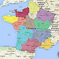 LE DECOUPAGE DES <b>REGIONS</b>
