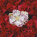 Diamond and <b>gem</b>-set 'Azalea' bangle, Cindy Chao
