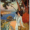 Les <b>affiches</b> touristiques de la Côte d'Azur