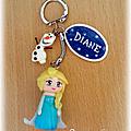Porte-clés Reine des Neiges