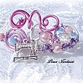 <b>Broche</b> en fil aluminium rose blanc machine  coudre
