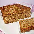 Cake au pomme & pâtisson râpés façon pain d'épices