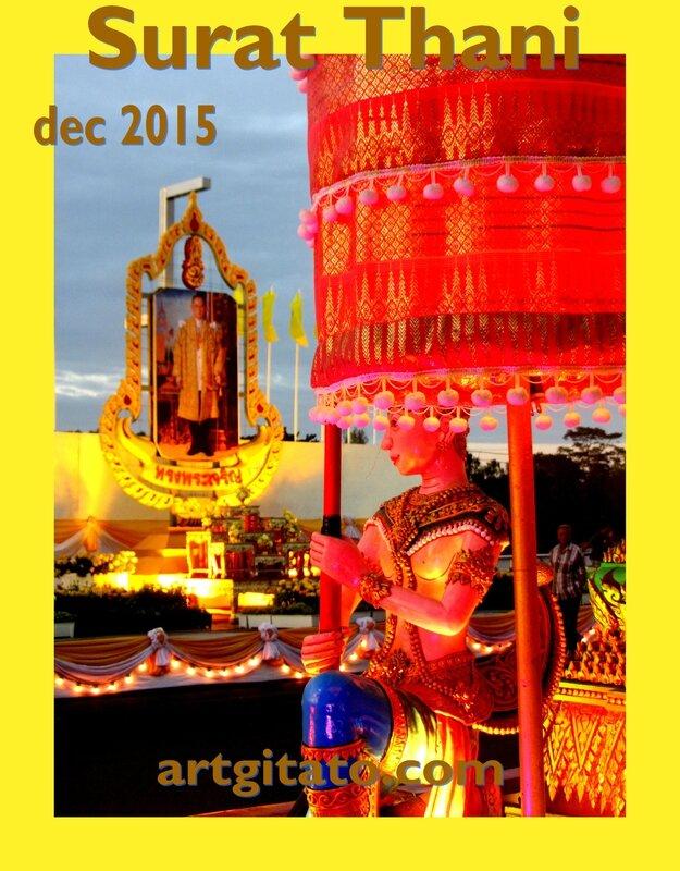 Surat Thani Thailande Artgitato Char déc 2015 9
