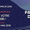 le lauréat du Tremplin P2N 2018 soumis au vote du public • jusqu'au 1er mars
