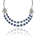 A sapphire and diamond necklace, by <b>Bulgari</b>