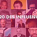 TOP 20 DES INFLUENCEURS