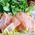 Gaufre salée poireau saumon