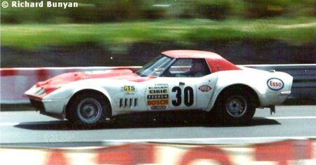 01 - 1973 - 24 H Mans (N° 30 Chevrolet Corvette C3) Titi-MCB-MP V8 7L GT Plus de 5