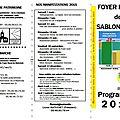 Programme 2015 du Foyer rural : Activités hebdomadaires/Manifestations sportives et <b>festives</b>