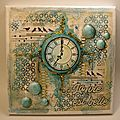 N°14 <b>TABLEAU</b> MIXED-MEDIA HORLOGE