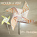 DIY+PRINTABLES Moulin à <b>vent</b>