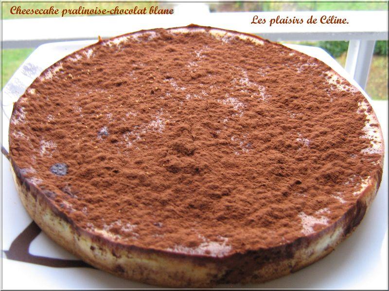 cheesecake à la pralinoise et chocolat blanc - on s'invite chez céline