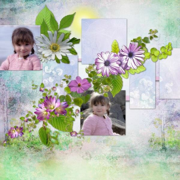 Bijou 7 - template 31 - kit Welcome spring de LouiseL - photo Nounou