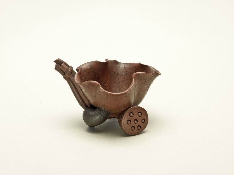 Chen Mingyuan (Chinese, active 16501700), Lotus Cup, Qing dynasty (1644-1911), mid 17th-18th century, Yixing stoneware