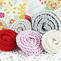 De jolies petites fleurs en crochet faciles et rapides à faire....