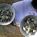 Petite salade d'été: Aubergine, féta & menthe