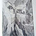 CHAMONIX ASCENSION DU MONT BLANC LE 5 <b>JUILLET</b> 1860 SC 223