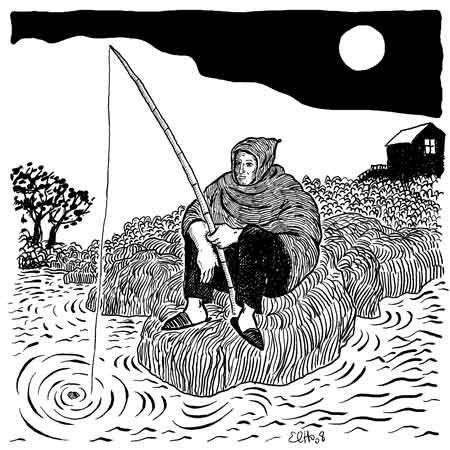 Anegmar n Iselman album Izlan Ibahriyen, Chants des Marins Kabyles; dessin d'Elho