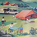 <b>Collection</b> ... Affiche L'HIVER / LE CAMPING