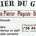 l'Atelier du Gypse. Artisan plâtrier traditionnel, Plaquiste, Staffeur, Ornemaniste
