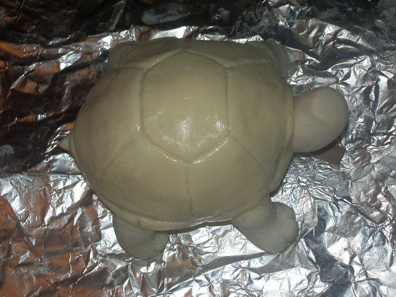 Как сделать черепаху из соленого теста