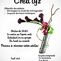 Atelier de <b>Création</b> <b>Florale</b>/ Workshops <b>floral</b> <b>creations</b>.