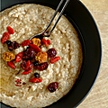 PORRIDGE SON D'AVOINE-SON DE BLE & SUPERFRUITS, RIZ au <b>LAIT</b> & SUPERFRUITS, FLAPJACKS & SUPERFRUITS