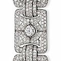 An Art Deco diamond bracelet, by <b>Bulgari</b>