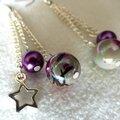 Des perles ... une étoile qui se balance ... des boucles d'oreille élégantes !