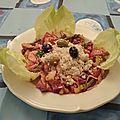 Salade composée terre et mer