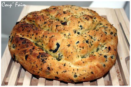 Recette fougasse aux olives machine a pain