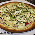 Pizza <b>pesto</b> express jambon et courgette