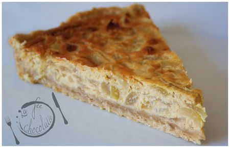 Tarte aux oignons, vin blanc et mascarpone