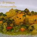 Tajine de poisson aux poivrons et <b>citrons</b> confits