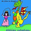 <b>Atelier</b> kamishibaï, <b>atelier</b> création d'un livre ou conte à illustrer : l'histoire de la princesse Rondine et de Léon le dragon